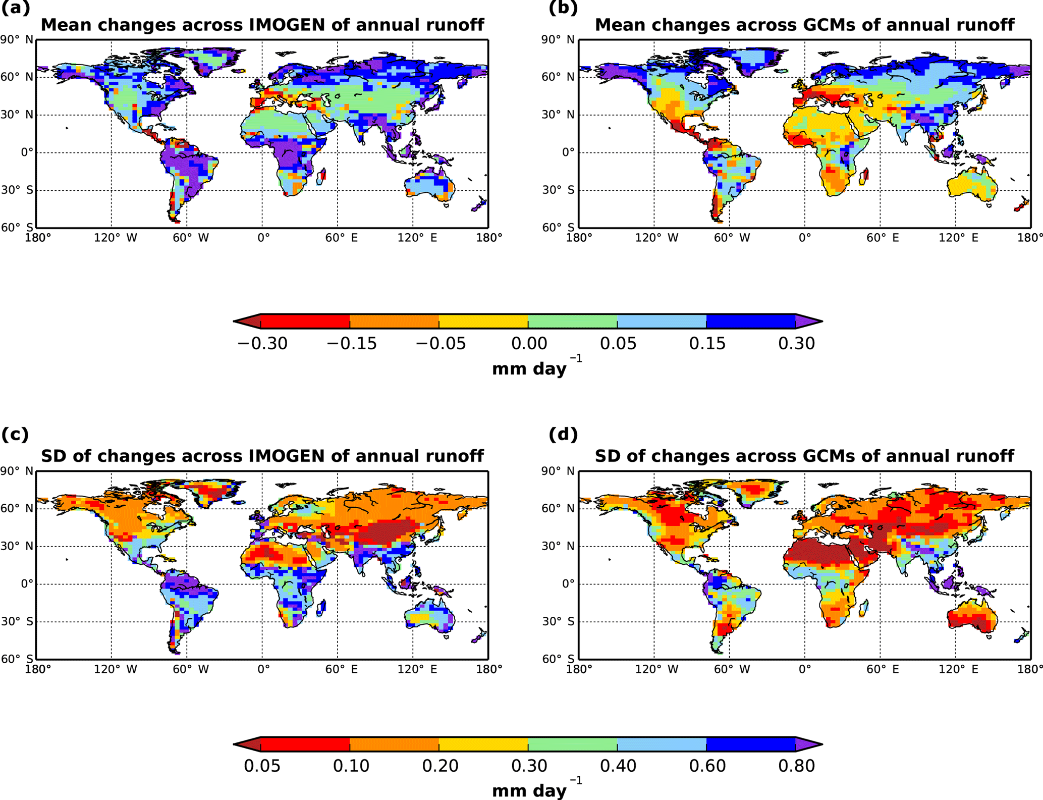 GMD - Climate pattern-scaling set for an ensemble of 22 GCMs