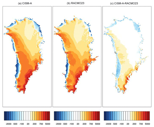 TC - Relations - Design and results of the ice sheet model