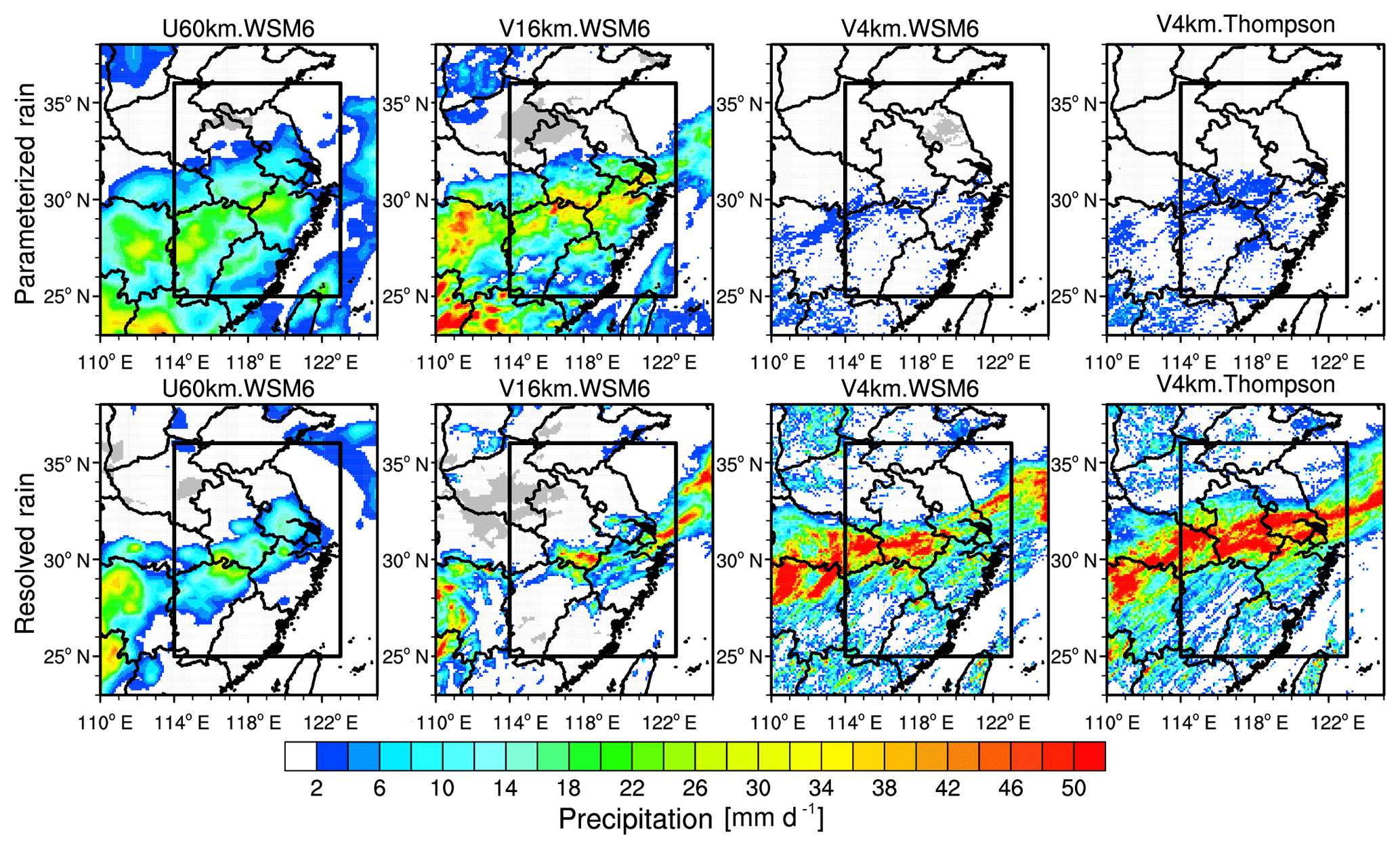 GMD - Modeling extreme precipitation over East China with a global